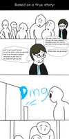 WTf  Issue 11 pg2-Elevator Hell by MethusulaComics