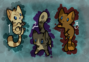 Cheap cat adoptables (2/3 open) by oOCometheartOo
