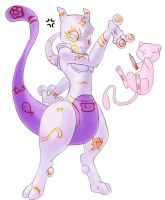 The mighty Mewtwo by EvilKitty3