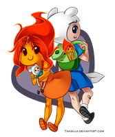 Finn and Flame Princess by Tanzilla