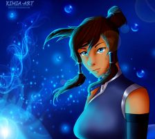 Korra Water  sketch by KimiaArt