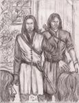 Young Halbarad and Aragorn by rstrider9