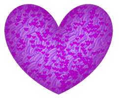Little Hearts within a Heart of Purple by LadyIlona1984