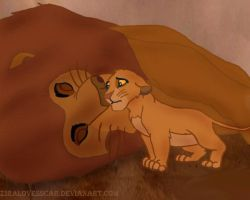 Mufasa and Simba by ZiraLovesScar