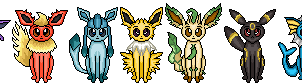 Eeveelution Minis by katcombs