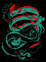 Deep Sea Creatures Design by IceandSnow