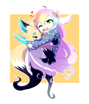 For Melly. Need your hugs by Crossity10