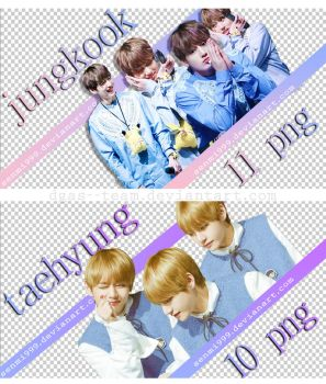 TAEHYUNG and JUNGKOOK RENDERS #1 by dgas--team