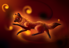 Woo fire woo *-* by DesislavasWolfArt
