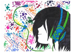 Music is my Heartbeat Color by Blue-eyed-girl-23