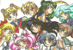 Sailor Scouts by Willow--