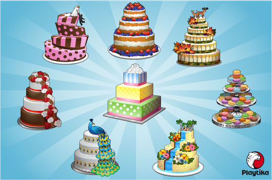 Wedding Cake Food Items by pokketmowse