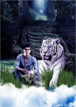 Thomas and tiger by byAlizeya