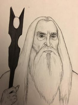 Saruman The Lord Of The Rings by conwaysuccess