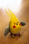 Little Flame - Needle felted Cockatiel by Tanita-sama
