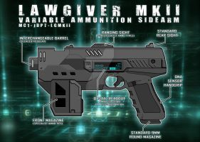 Lawgiver MKii 2012 Schematic Vector by strangelysaucy