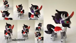 MLP Plush handmade--KING SOMBRA (season 3) by valio99999