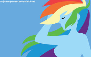 Human Wallpaper - Rainbow Dash (Blue) by MegaSweet