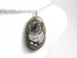 Birman Cat Pendant Necklace by sobeyondthis