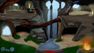 Cave Waterfall Pack Room (FREE) by BluuWynter