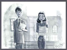 Paperman by Caricatureart