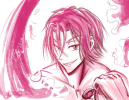Rin sketch - Free! Iwatobi Swim Club by Nekoi-Echizen