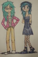 Piper and Trix by Half-Insane-Ghost