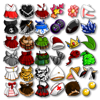 Female Armor Icons by KupoGames
