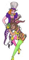 AIW63: Hatter and Hare by AtomykTickTock