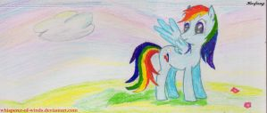 Raibow Dash 3 (sketch) by Whisperer-of-Winds