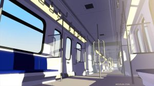 Anime Style Render Train by mclelun