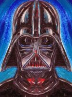 Vader Acrylic Painting - KL by KLartwork