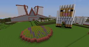 Minecraft 'Tekkit':  Woolworth's Wool Factory WIP by Sherio88