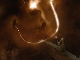 Gandalf and the Balrog by Estella-Brandybuck