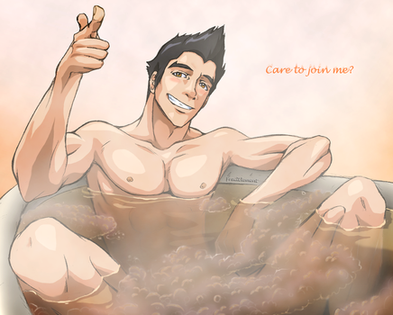 LoK [Mako] Bubble Bath by FrailElement