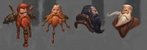 Dwarf sketches by Izzual