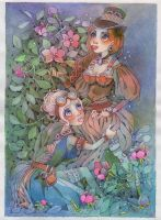 The Dusk Roses by isletree