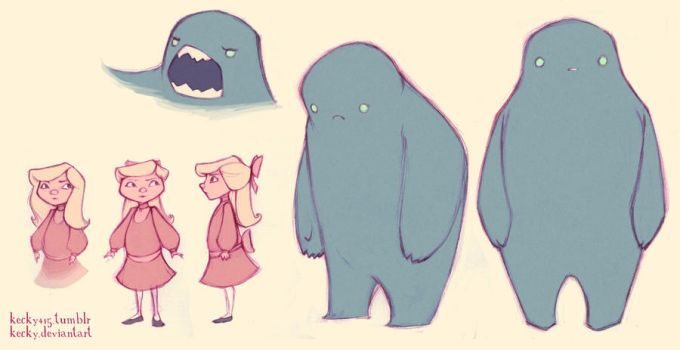 monster and friend by Kecky