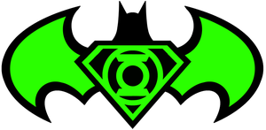 SuperBat Green Lantern logo by KalEl7
