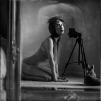 behind the scenes: mirrored self-portraits by RapidHeartMovement