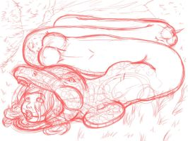 Snake Vore 3 WIP by canime