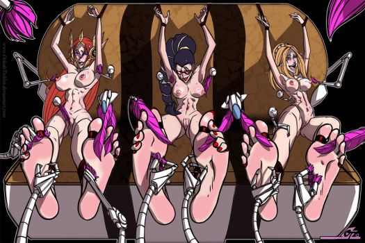LoL Tickling 02 - Leona, Vayne and Lux by MichaelScottCannon