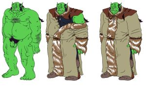 orc costume practice by yang