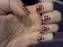 Another Tartan Nail by Crowmistress