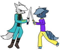 You think you'll win, huh? by TranquilityWolfox