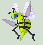 Shiny Beedrill by JestersTrumpcard