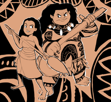 Disney's Moana Tattoo Tapestry Design by AlSanya