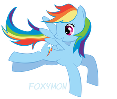 MLP FiM: Rainbow Dash by Foxymon