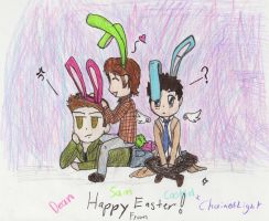 Happy Easter (What Dean  puts up with) by ChainOfLight