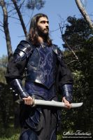 Elfic leather blue armor by AtelierFantastique